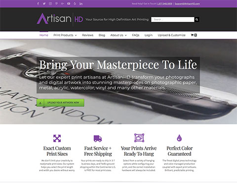 Launched New ArtisanHD E-Commerce Website