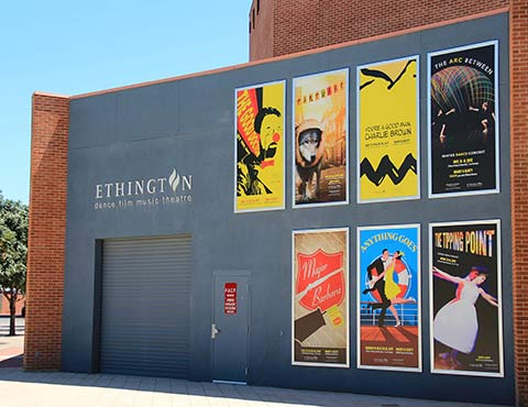 Printed Outdoor Display Banners Promote Upcoming Performances at Ethington Theatre   Grand Canyon University