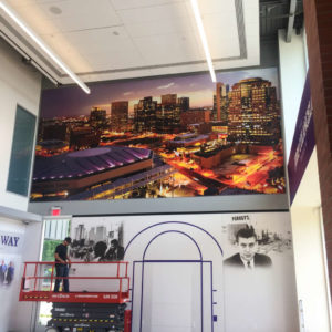 GCU Colangelo Museum XL Banner Install - Print and Design by the Artisans