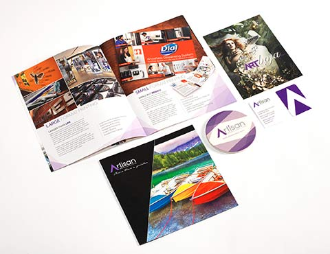 Printed Sales & Marketing Collateral for Artisan Colour
