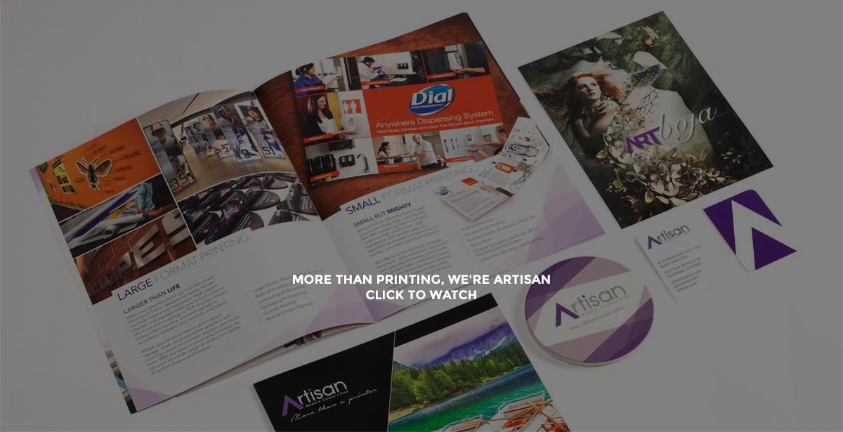 Artisan Colour Business Printing Services Video Hero