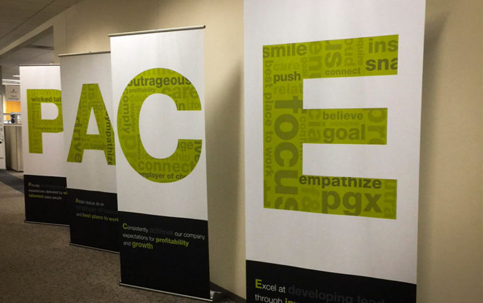 Corporate Values Retractable Banners