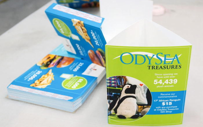 OdySea Standing Triangle Table Tents Point Of Purchase ArtisanColour