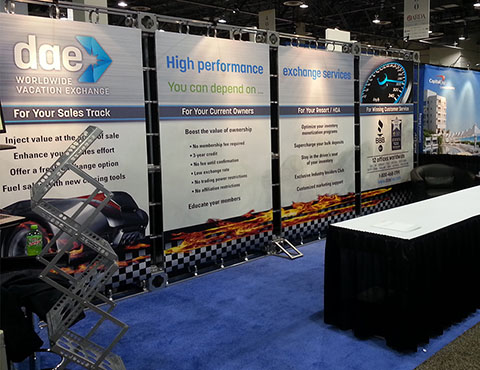 DAE timeshare events booth trade show printing by Artisan Colour