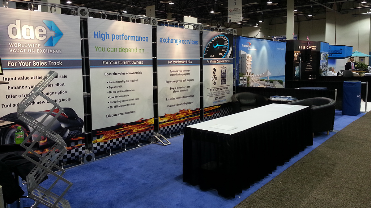 DAE timeshare trade shows and events booth artisancolour