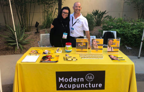 Modern Acupuncture Sales Marketing Collateral Table
