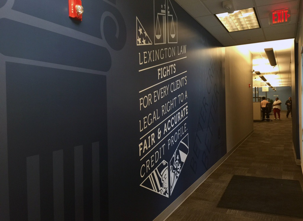 wall mural wrap printed by Artisan Colour for Lexington Law
