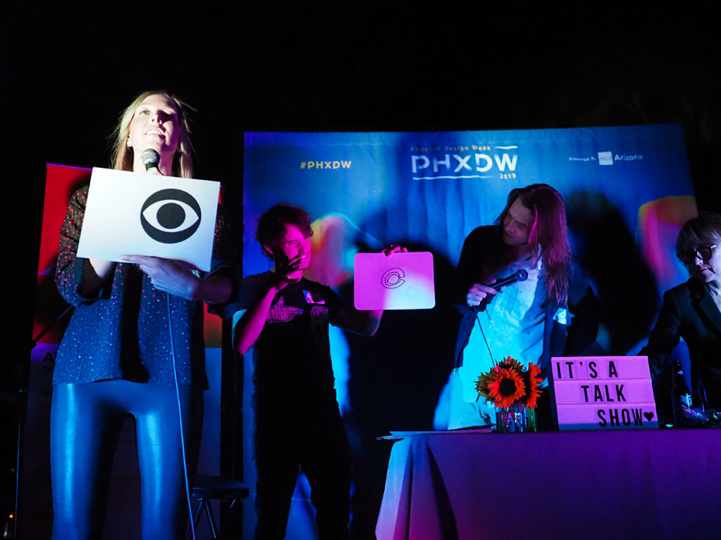 PHXDW 2019 Closing Party logo guessing game quick draw CBS