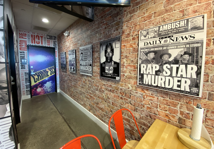 Wall graphics by Artisan Colour at Monroe's Hot Chicken Digital Commercial Printing