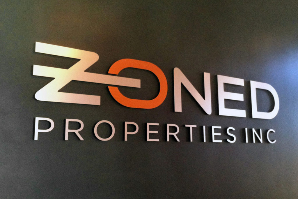 Zoned Properties Inc Signage