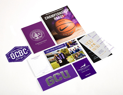 Grand Canyon University Sales Collateral Spread thumb with color separation technology