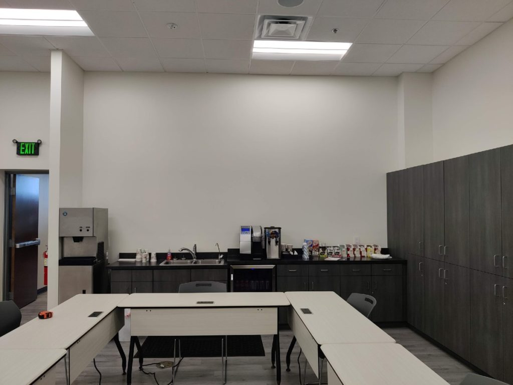 Allied Training Room Before Corporate Wall Graphics web