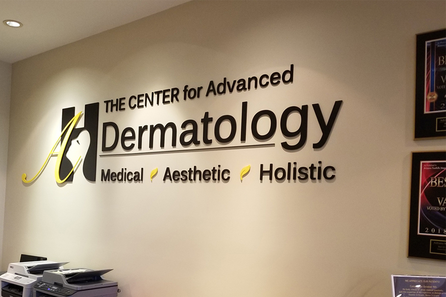 Healthcare printing - Signage Dermatology Office