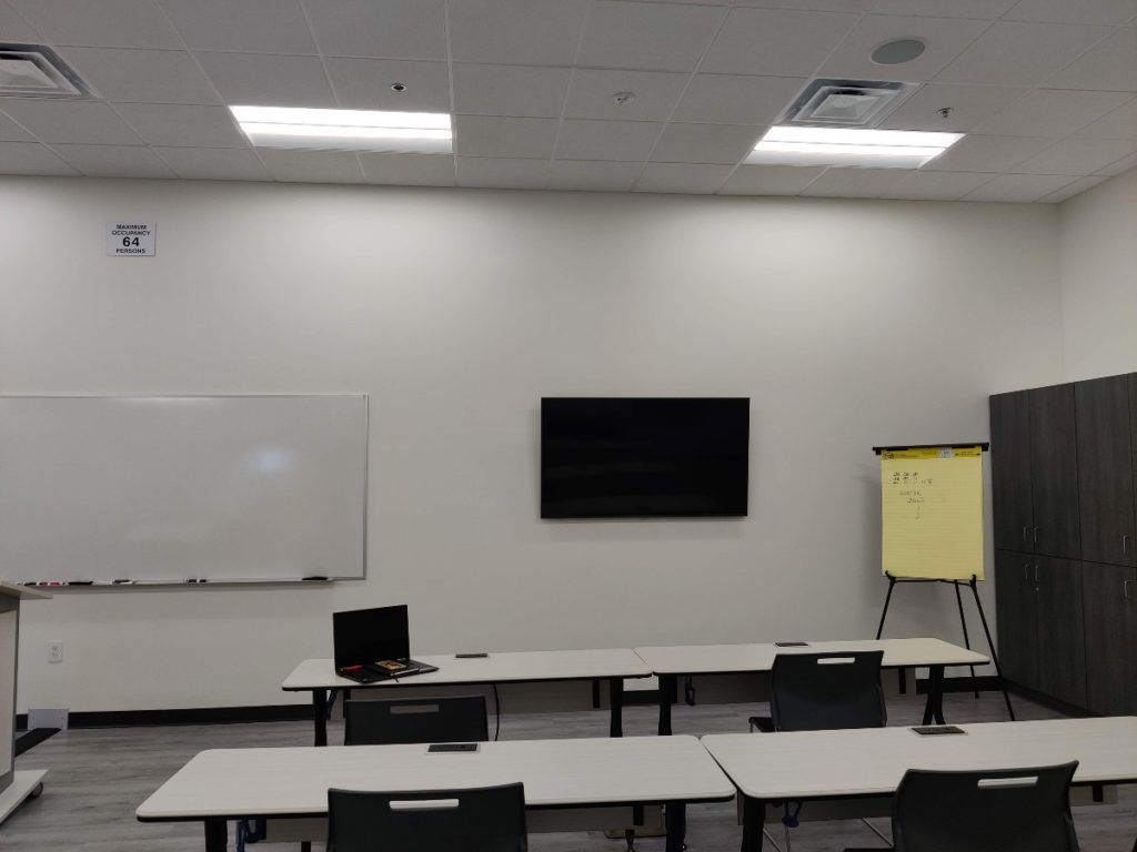 Training Room for Allied before corporate wall graphics installed by Artisan Colour web